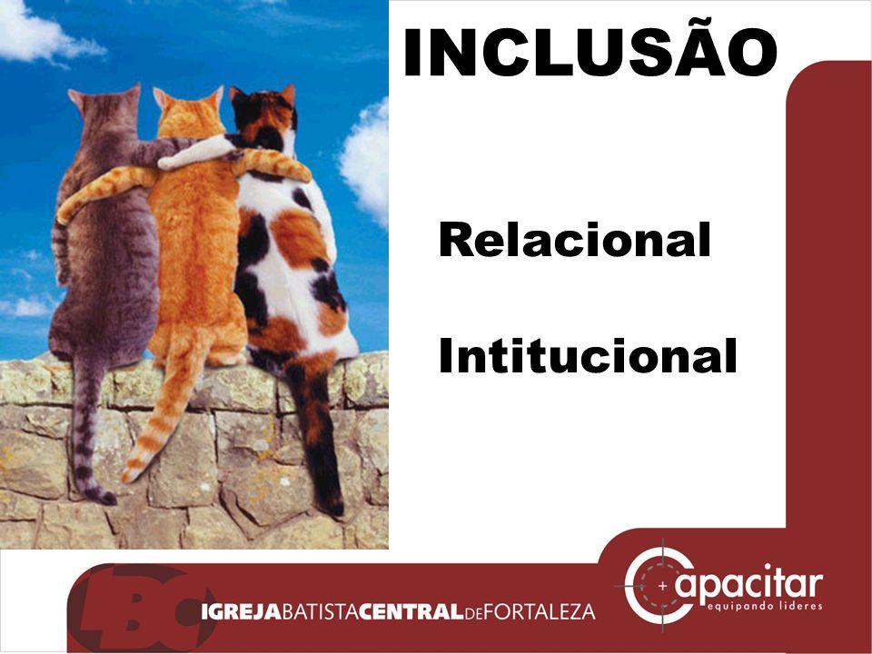 Click to edit Master subtitle style INCLUSÃO Relacional Intitucional