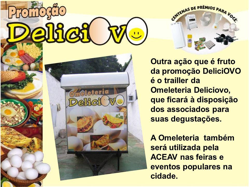 Outra ação que é fruto da promoção DeliciOVO é o trailler da Omeleteria Deliciovo, que ficará à disposição dos associados para suas degustações.
