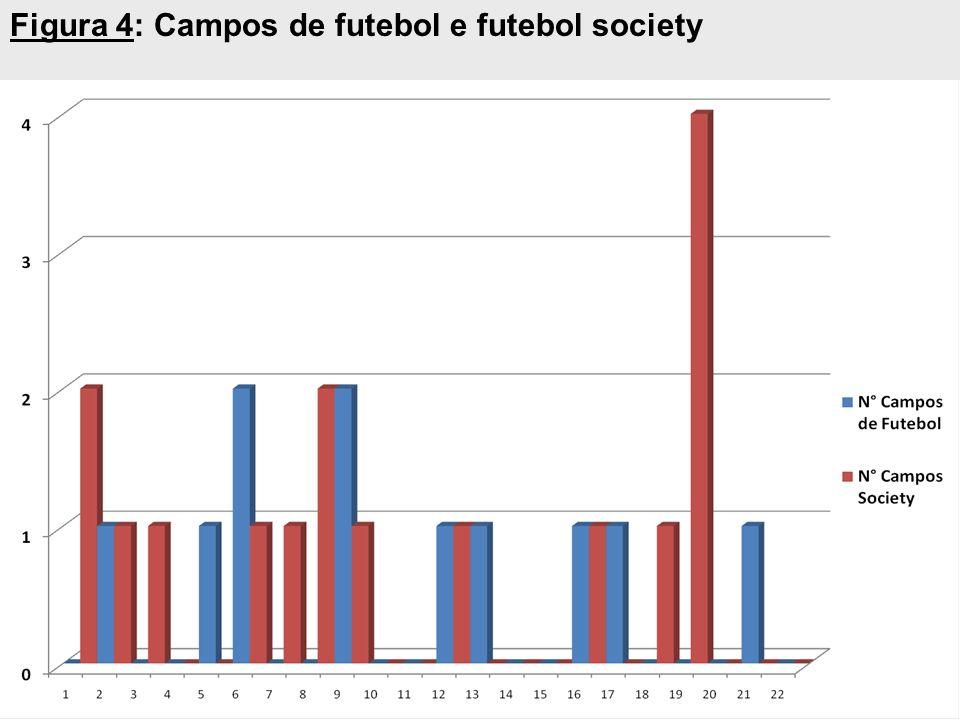 Figura 4: Campos de futebol e futebol society