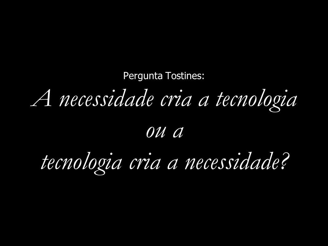Pergunta Tostines: A necessidade cria a tecnologia ou a tecnologia cria a necessidade?