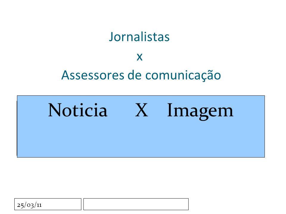 Clique para editar o estilo do subtítulo mestre 25/03/11 Jornalistas x Assessores de comunicação Noticia X Imagem