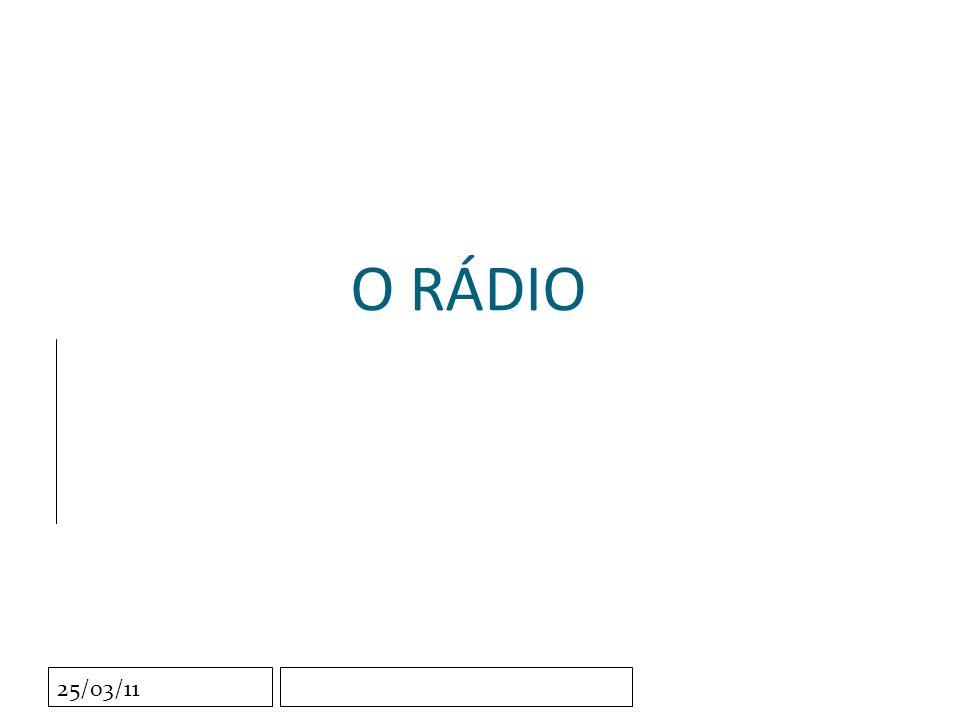 Clique para editar o estilo do subtítulo mestre 25/03/11 O RÁDIO