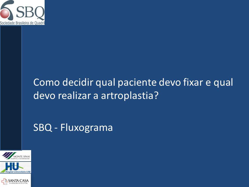 Como decidir qual paciente devo fixar e qual devo realizar a artroplastia? SBQ - Fluxograma