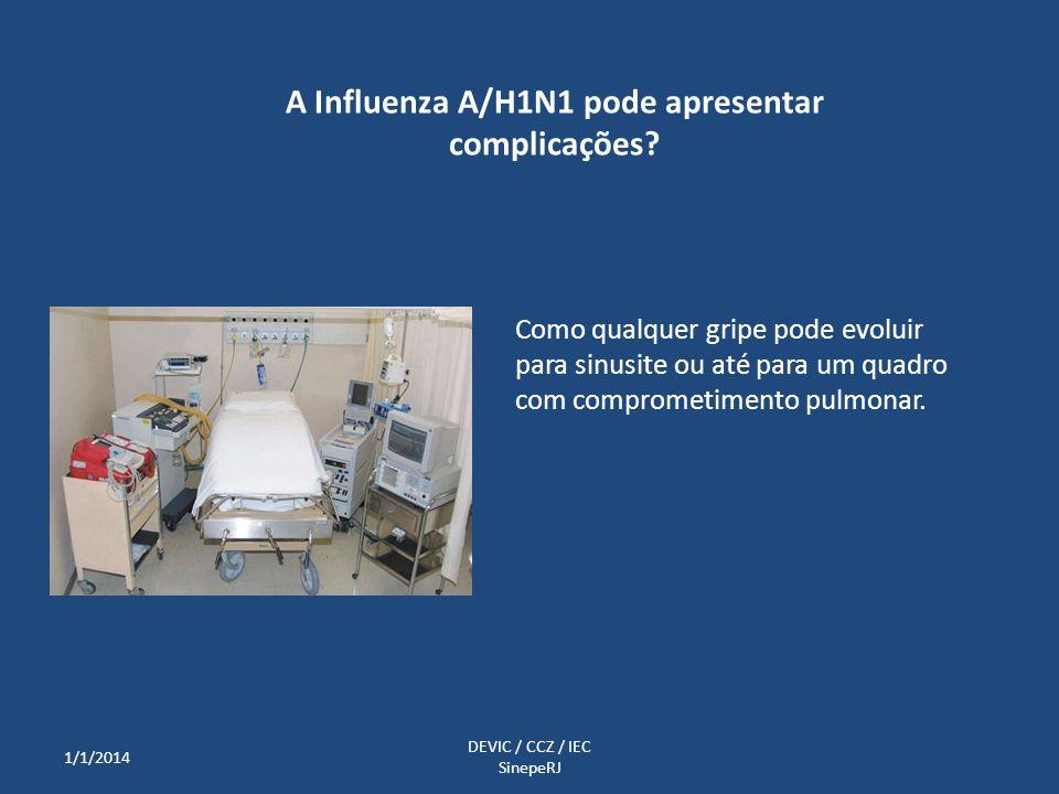 Como qualquer gripe pode evoluir para sinusite ou até para um quadro com comprometimento pulmonar. A Influenza A/H1N1 pode apresentar complicações? 1/