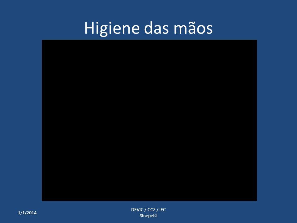 Higiene das mãos 1/1/2014 DEVIC / CCZ / IEC SinepeRJ