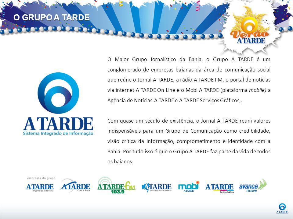 O Maior Grupo Jornalístico da Bahia, o Grupo A TARDE é um conglomerado de empresas baianas da área de comunicação social que reúne o Jornal A TARDE, a