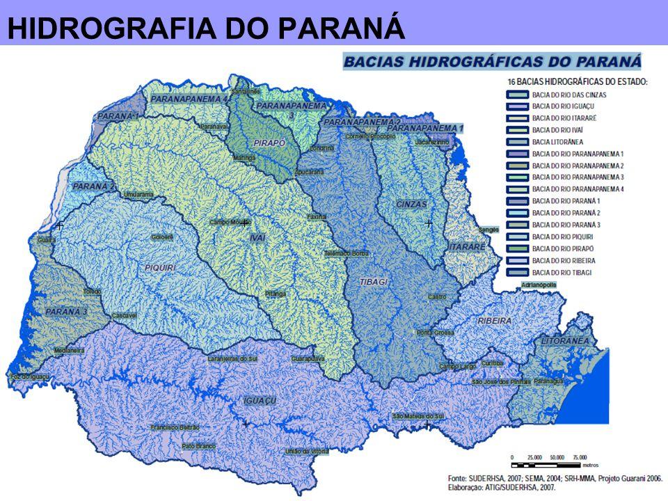 DESTAQUES sobre a hidrografia do Paraná
