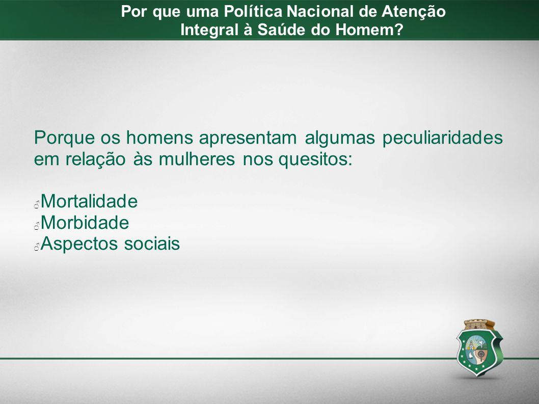 - Ano 2012 – Ceará - Dos 42.786 óbitos notificados, 24.793 (58%) foram do sexo masculino.