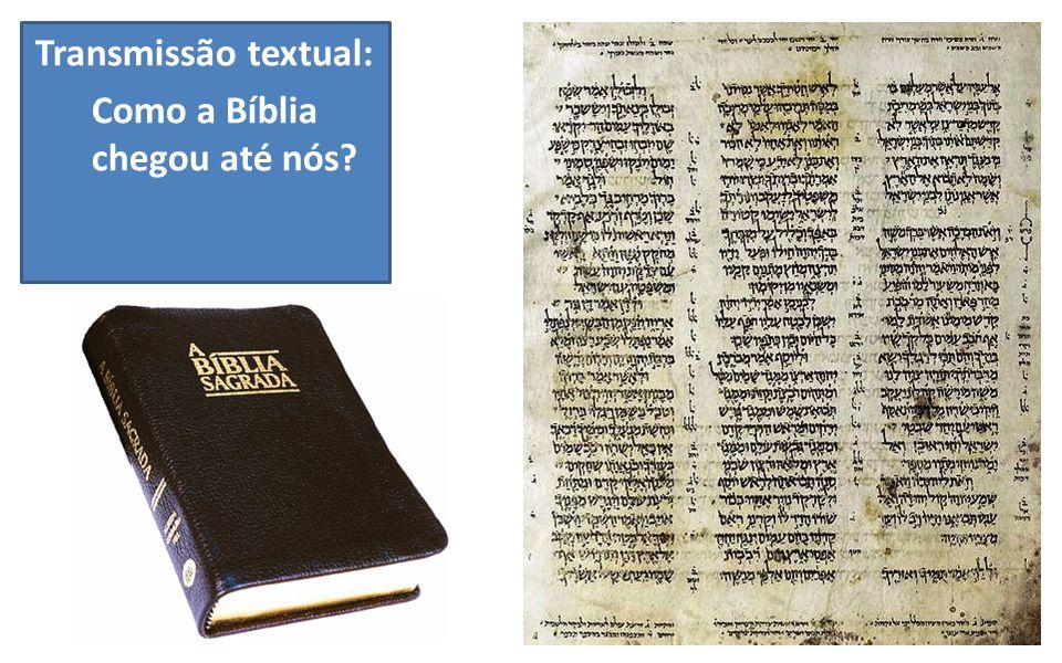 Transmissão textual: Como a Bíblia chegou até nós?