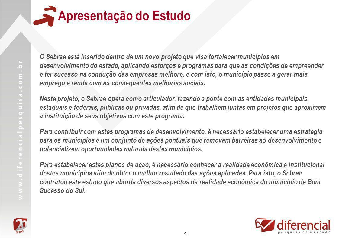 65 Análise dos Aspectos Gerais do Município O escritório da EMATER em Bom Sucesso do Sul está situado dentro da secretaria de agricultura local, dividindo o mesmo espaço.