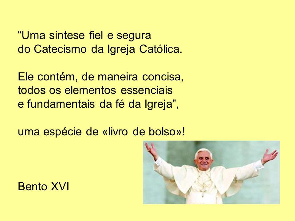 Uma síntese fiel e segura do Catecismo da Igreja Católica. Ele contém, de maneira concisa, todos os elementos essenciais e fundamentais da fé da Igrej