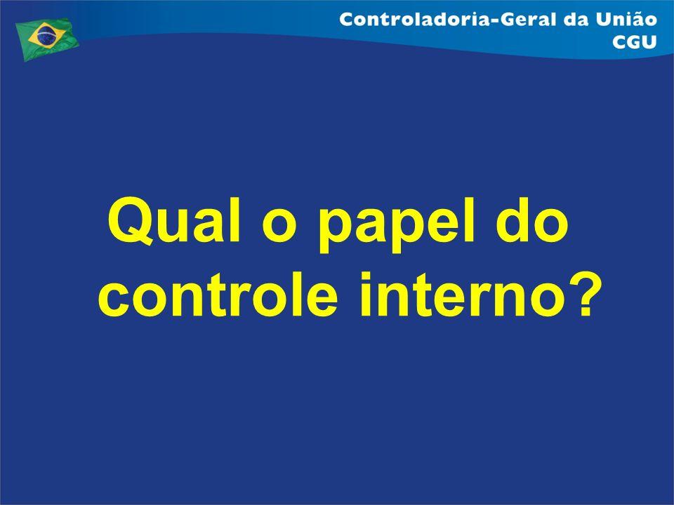 Principais atividades do Controle Interno