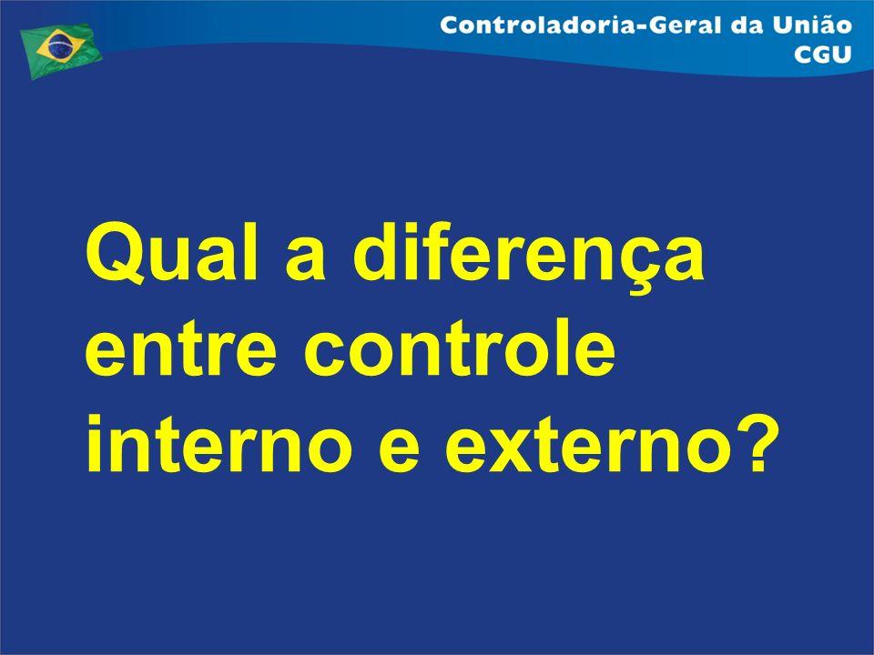 Qual a diferença entre controle interno e externo?