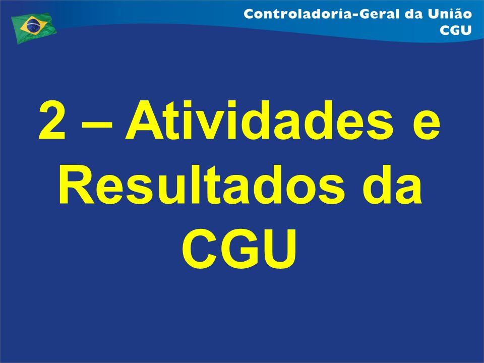 2 – Atividades e Resultados da CGU