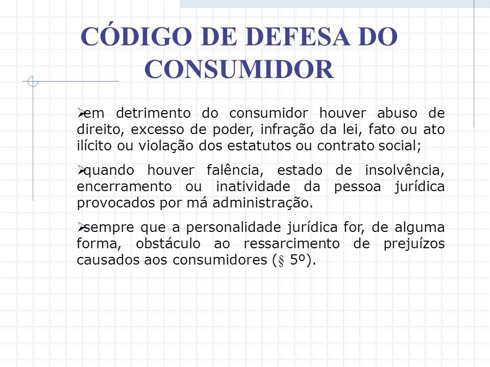 CÓDIGO DE DEFESA DO CONSUMIDOR Art. 27 – prazo de 05 (cinco) anos, contados do conhecimento do dano e de sua autoria. O CDC, no seu art. 28, introduzi
