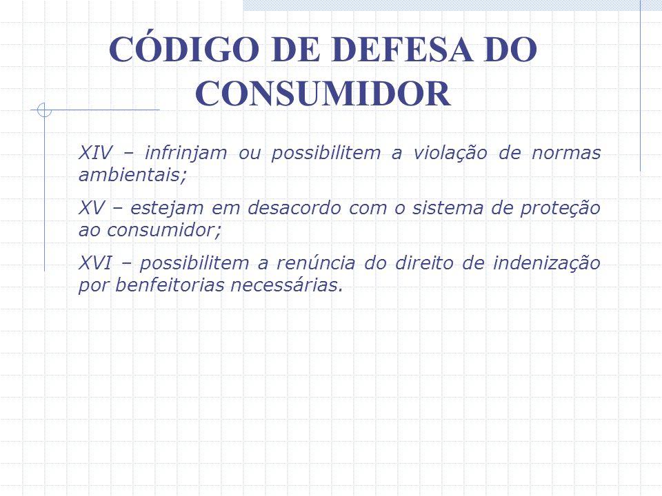 CÓDIGO DE DEFESA DO CONSUMIDOR XI – autorizem o fornecedor a cancelar o contrato unilateralmente, sem que igual direito seja conferido ao consumidor;