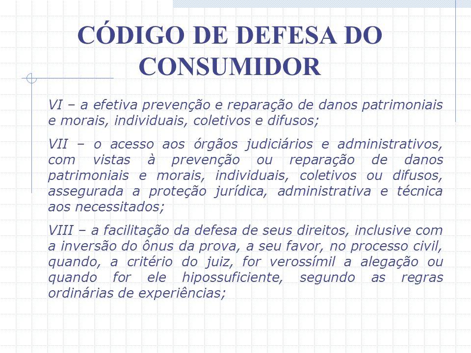 CÓDIGO DE DEFESA DO CONSUMIDOR III – a informação adequada e clara sobre os diferentes produtos e serviços, com especificação correta de quantidade, c