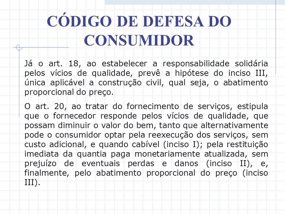 CÓDIGO DE DEFESA DO CONSUMIDOR II – que, embora haja colocado o produto no mercado, o defeito inexiste; III – a culpa exclusiva do consumidor ou de te