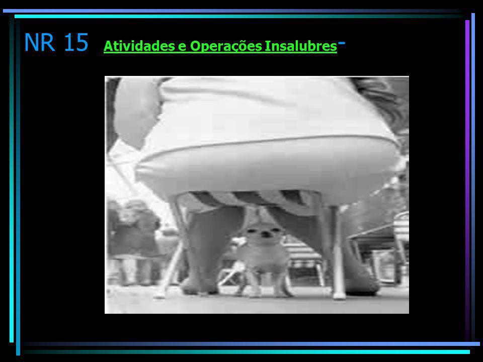 NR 15 Atividades e Operações Insalubres -