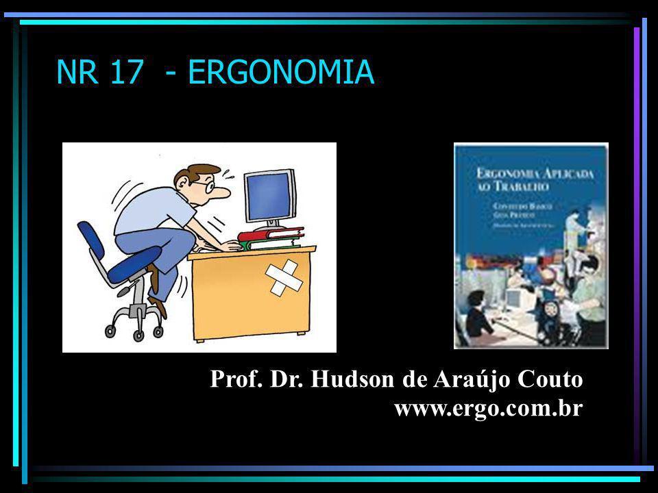 NR 17 - ERGONOMIA Prof. Dr. Hudson de Araújo Couto www.ergo.com.br