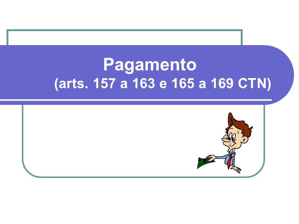 Pagamento (arts. 157 a 163 e 165 a 169 CTN)