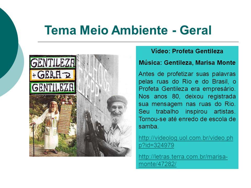 Vídeo: Profeta Gentileza Música: Gentileza, Marisa Monte Antes de profetizar suas palavras pelas ruas do Rio e do Brasil, o Profeta Gentileza era empr