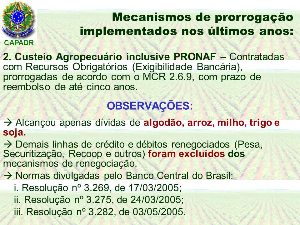 CAPADR PARA A SAFRA 2005/2006: 1.