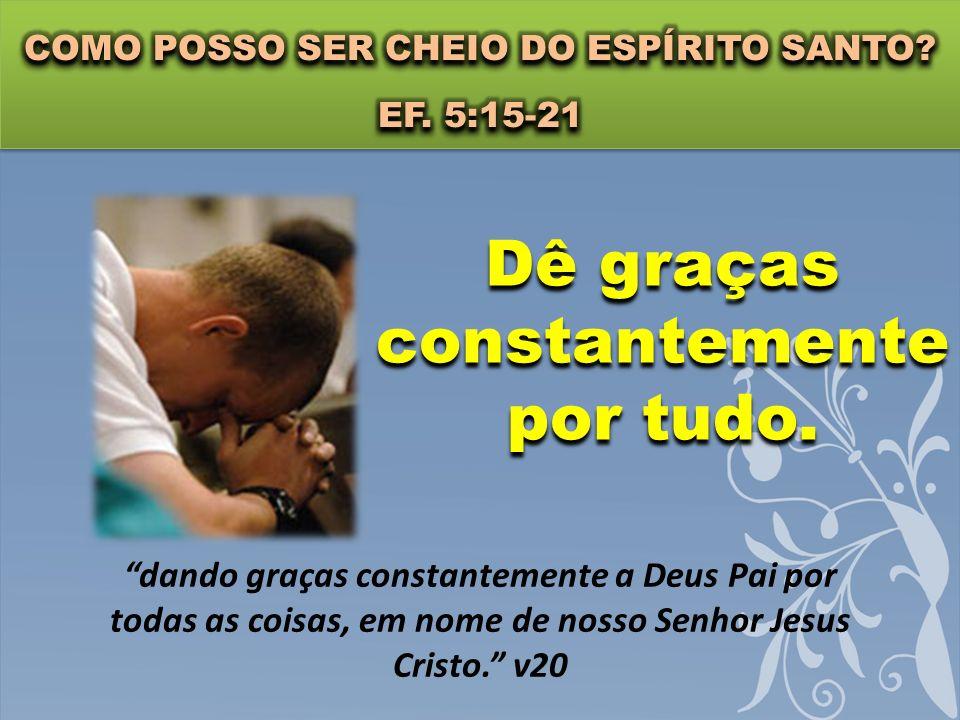 Sujeite-se as outras pessoas. Sujeitem-se uns aos outros, por temor a Cristo. v21