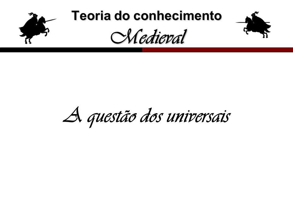 Teoria do conhecimento Medieval A questão dos universais