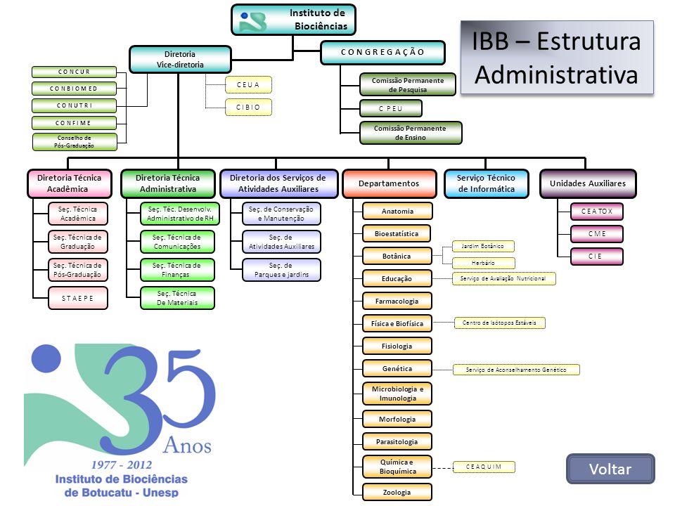 IBB – Estrutura Administrativa Voltar Seç. Técnica de Comunicações Seç. Técnica de Finanças Seç. Téc. Desenvolv. Administrativo de RH Seç. Técnica De