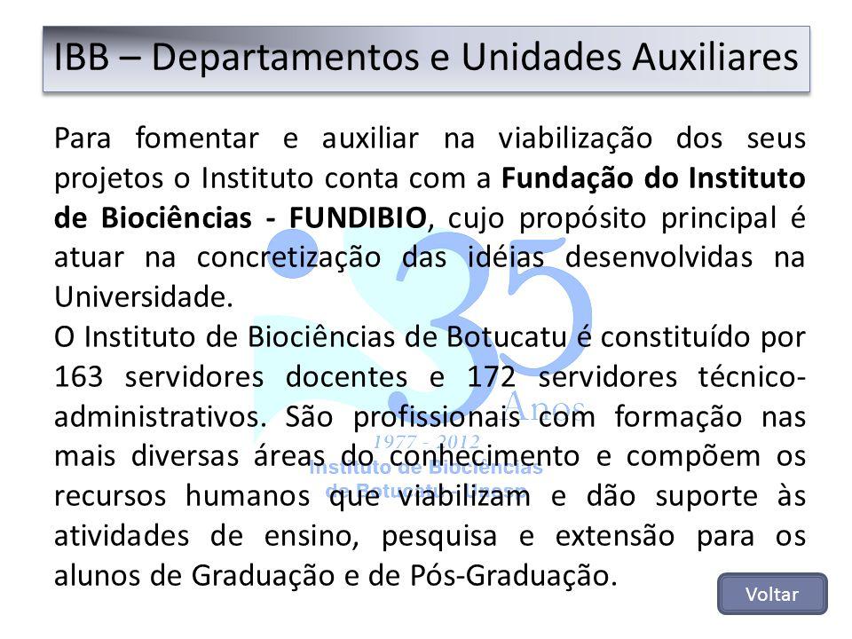 Para fomentar e auxiliar na viabilização dos seus projetos o Instituto conta com a Fundação do Instituto de Biociências - FUNDIBIO, cujo propósito pri