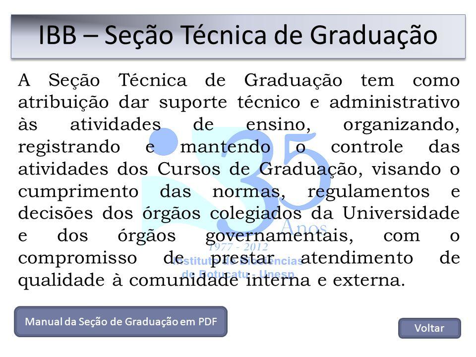 A Seção Técnica de Graduação tem como atribuição dar suporte técnico e administrativo às atividades de ensino, organizando, registrando e mantendo o c