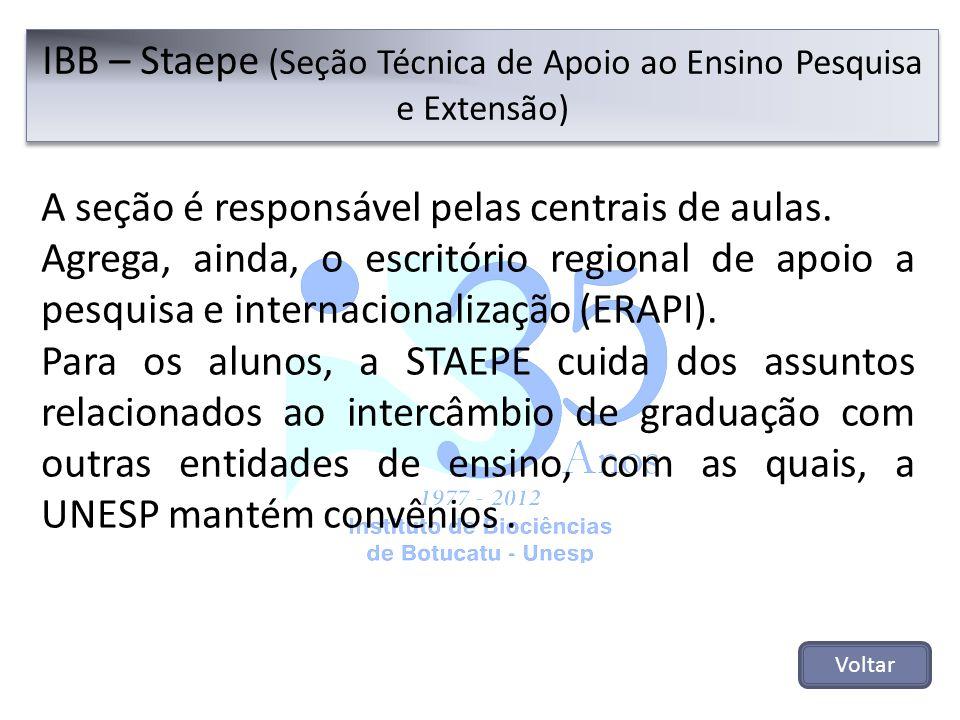 A seção é responsável pelas centrais de aulas. Agrega, ainda, o escritório regional de apoio a pesquisa e internacionalização (ERAPI). Para os alunos,