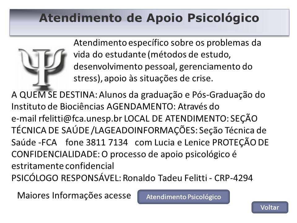 Atendimento específico sobre os problemas da vida do estudante (métodos de estudo, desenvolvimento pessoal, gerenciamento do stress), apoio às situaçõ