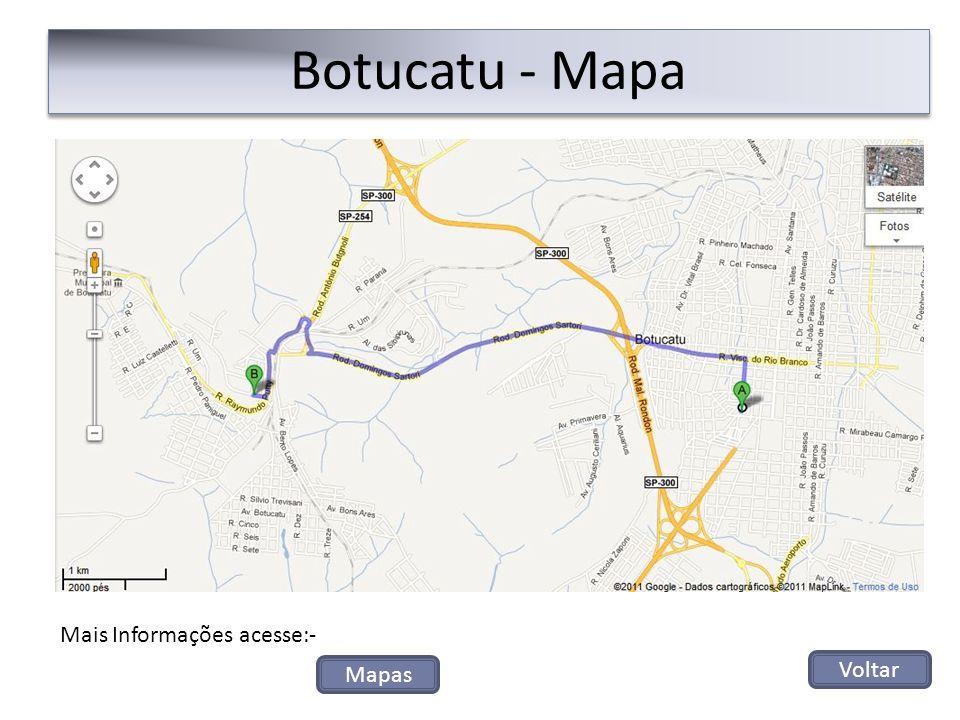 Botucatu - Mapa Voltar Mais Informações acesse:- Mapas