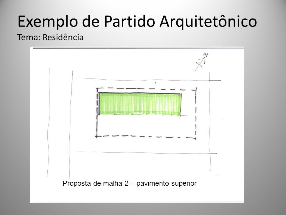 Exemplo de Partido Arquitetônico Tema: Residência Proposta de malha 2 – pavimento superior