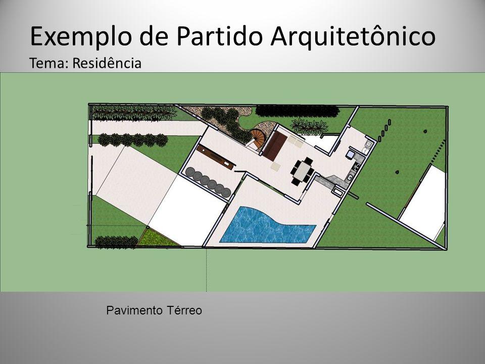 Exemplo de Partido Arquitetônico Tema: Residência Pavimento Térreo