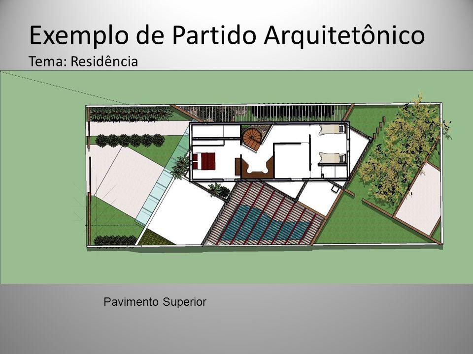 Exemplo de Partido Arquitetônico Tema: Residência Pavimento Superior