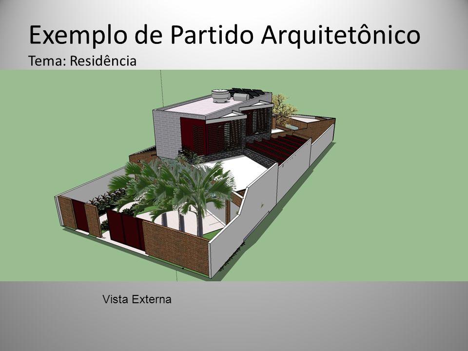 Exemplo de Partido Arquitetônico Tema: Residência Vista Externa
