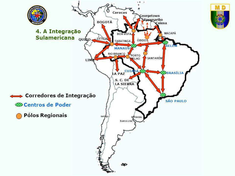 Caracas Santiago Buenos Aires Montevidéu BELÉM MACAPÁ BRASÍLIA SÃO PAULO CUIABÁ MANAUS BOA VISTA PORTO VELHO RIO BRANCO LETÍCIA SANTARÉM LIMA QUITO BO