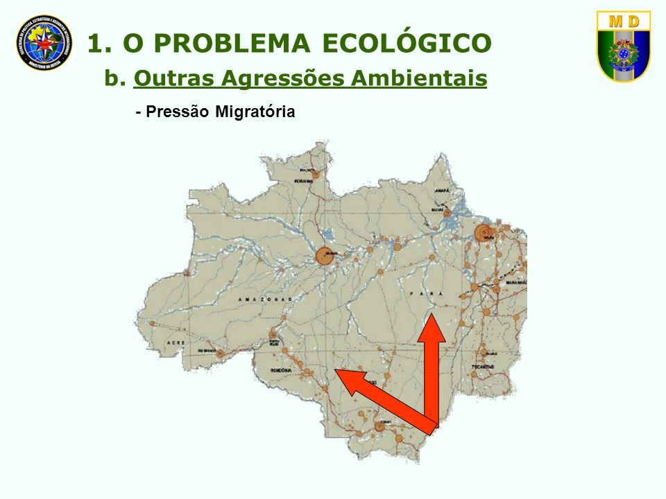 1) Para a Política de Ordenamento Territorial: - substituir o conceito de preservação pelo de equilíbrio ecológico; - preservar as florestas de solo quaternário.