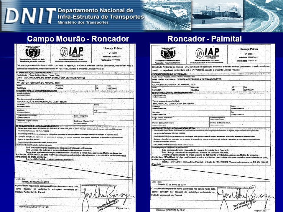 Campo Mourão - RoncadorRoncador - Palmital
