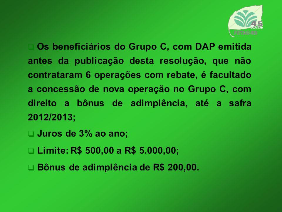 Recuperação de Solo Cria uma linha de crédito específica para a recuperação e manejo de solo, com financiamento de até R$ 7 mil e juro de 1% ao ano (Pronaf Eco).