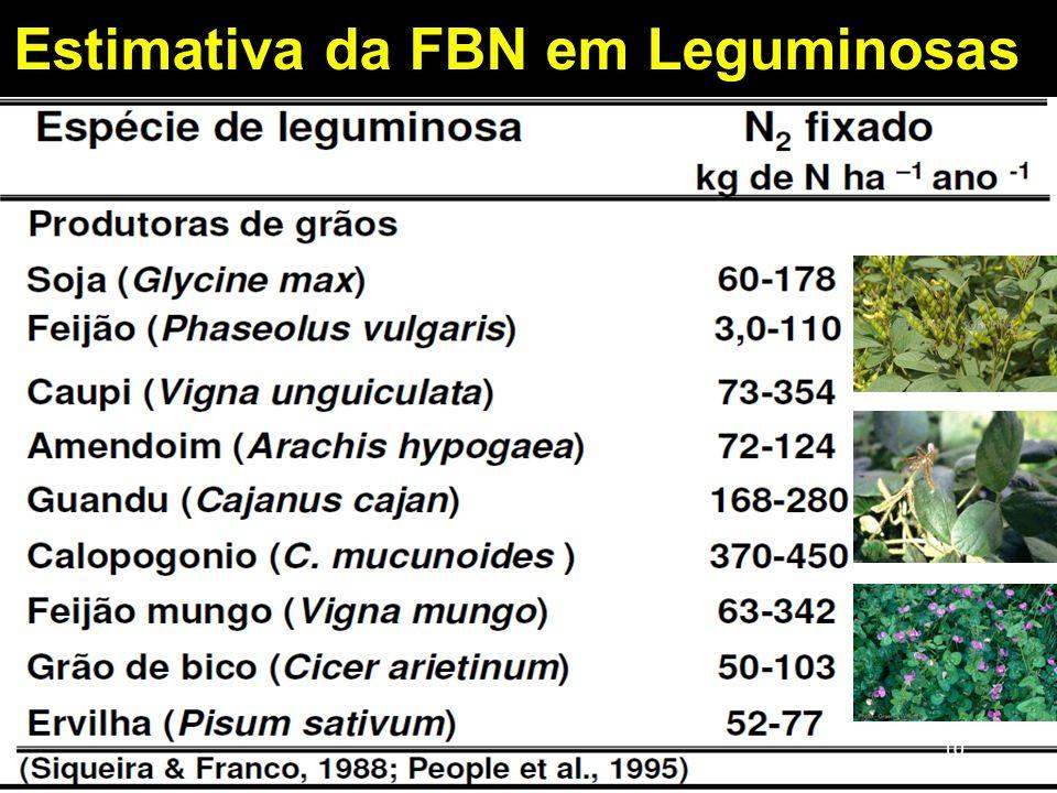 Estimativa da FBN em Leguminosas 10