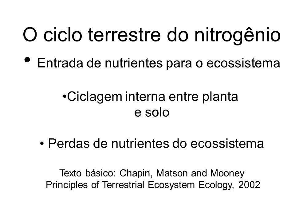 Atmosphere Plants NH 3 BNF NH 4 NO 3 MIN.NITRIF.