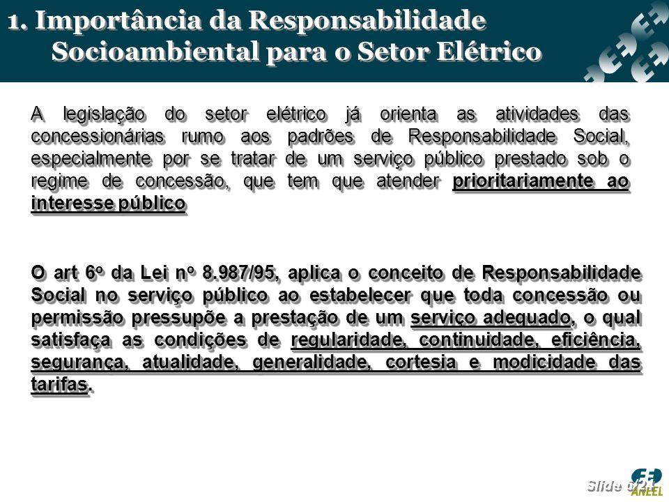 O art 6 o da Lei n o 8.987/95, aplica o conceito de Responsabilidade Social no serviço público ao estabelecer que toda concessão ou permissão pressupõ