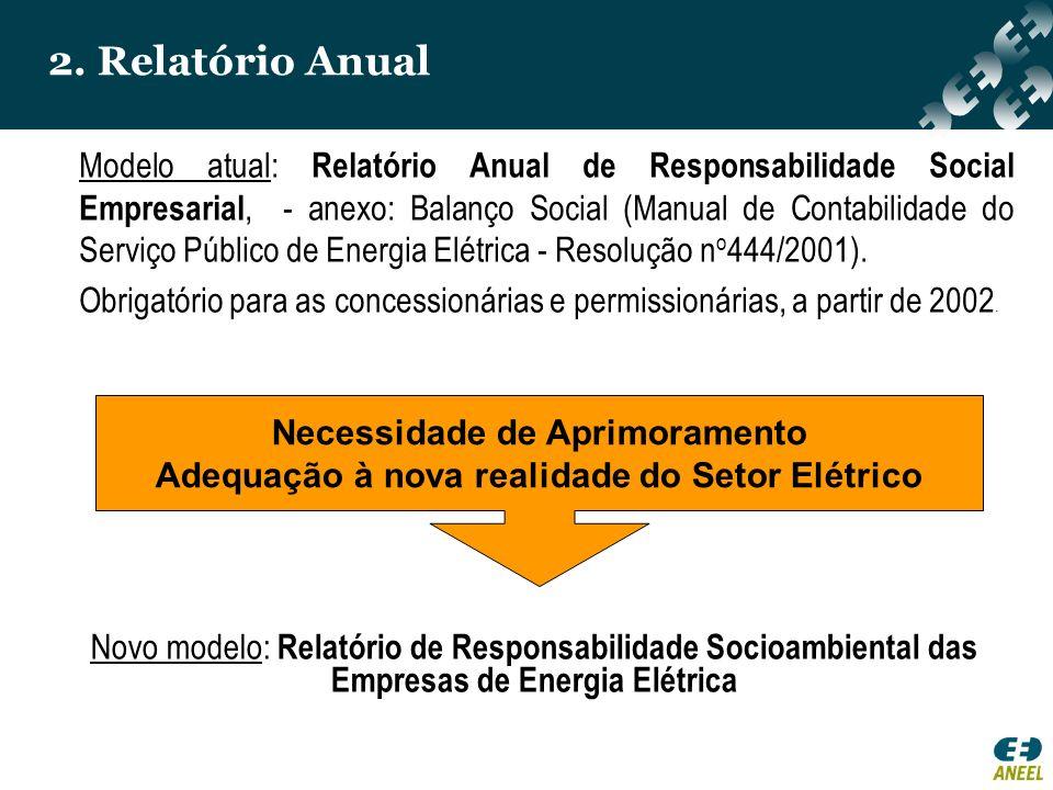 2. Relatório Anual Modelo atual: Relatório Anual de Responsabilidade Social Empresarial, - anexo: Balanço Social (Manual de Contabilidade do Serviço P