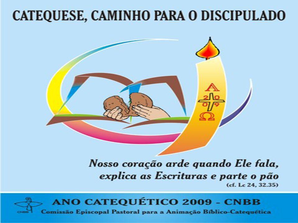 Interpretação do cartaz: O autor, Dirceu Coelho, O fruto da evangelização e da catequese é fazer discípulos .