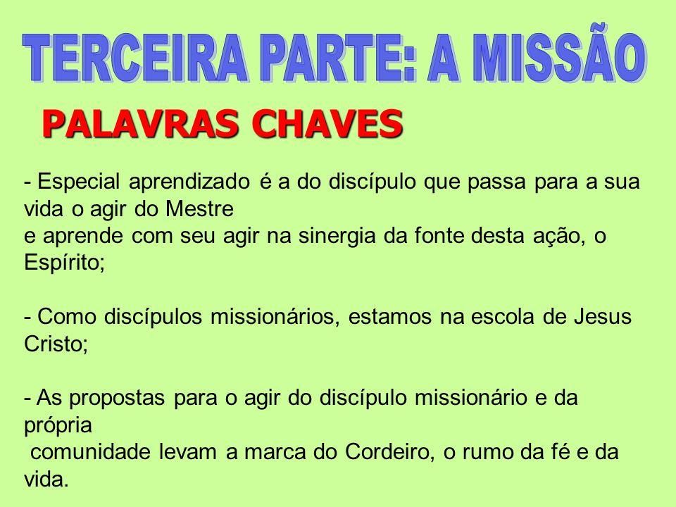 PALAVRAS CHAVES - Especial aprendizado é a do discípulo que passa para a sua vida o agir do Mestre e aprende com seu agir na sinergia da fonte desta a