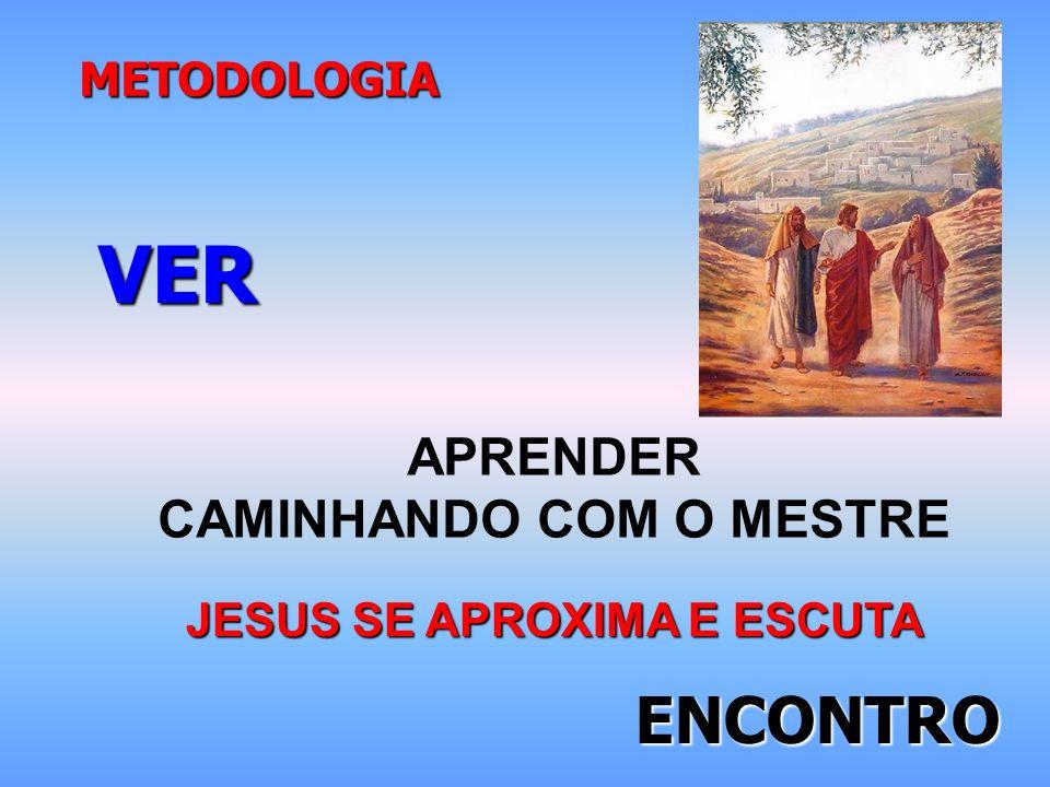 METODOLOGIA APRENDER CAMINHANDO COM O MESTRE VER JESUS SE APROXIMA E ESCUTA ENCONTRO